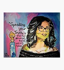 Speak your Truth: Oprah Photographic Print