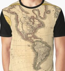 A new map of America, from the latest authorities Graphic T-Shirt