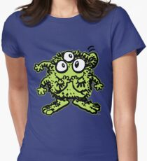 Cute Cartoon Green Monster by Cheerful Madness!! Womens Fitted T-Shirt