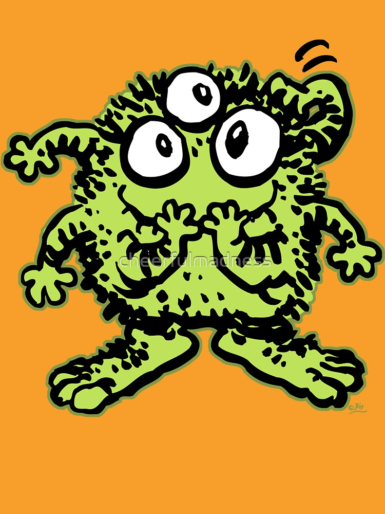 Cute Cartoon Green Monster by Cheerful Madness!! by cheerfulmadness