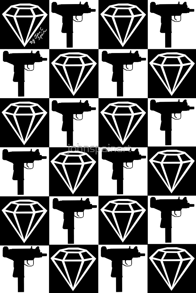 Diamonds & Uzi's by johnspainart