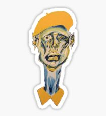 Portrait of a Distressed Artist Sticker
