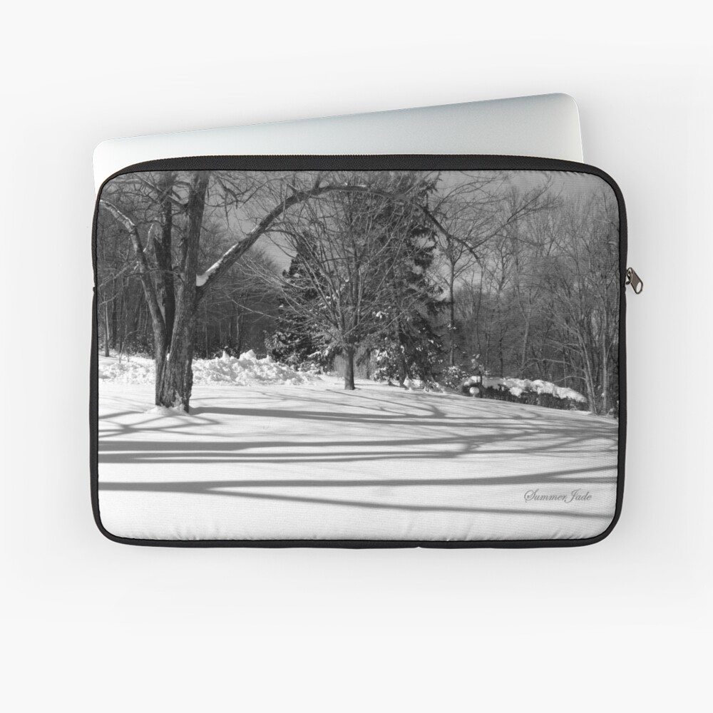 That Cold Winter Sun ~ On Snow Laptop Sleeve