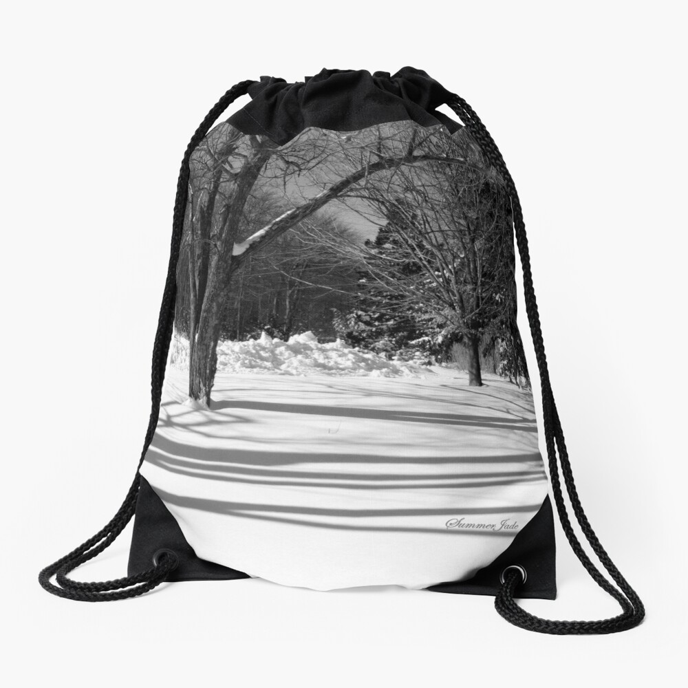 That Cold Winter Sun ~ On Snow Drawstring Bag