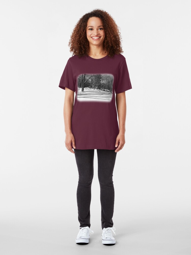 Alternate view of That Cold Winter Sun ~ On Snow Slim Fit T-Shirt