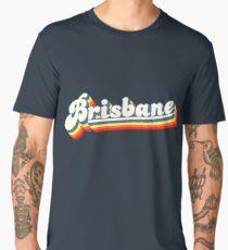 Brisbane, QLD | Retro Rainbow Men's Premium T-Shirt