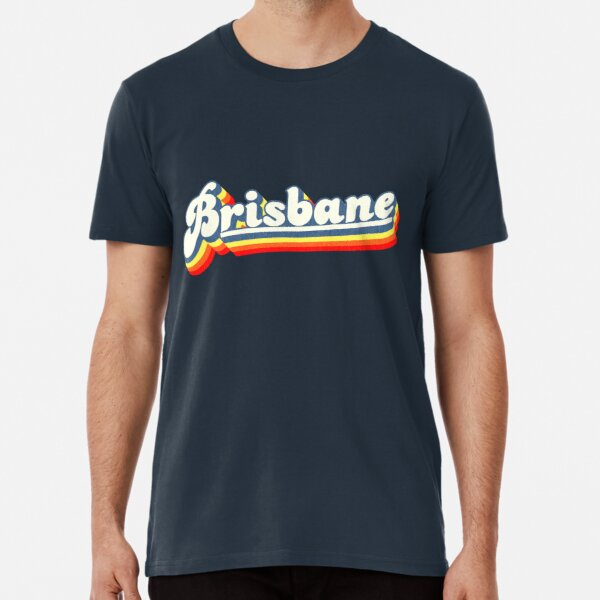 Brisbane, QLD | Retro Rainbow Premium T-Shirt