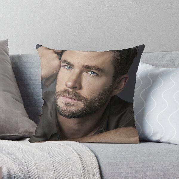 Chris Hemsworth Seductive Throw Pillow