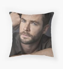 Chris Hemsworth Seductive Throw Pillow