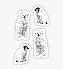 polar bear and penguin Sticker