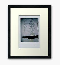 The 1975 Setlist Framed Print