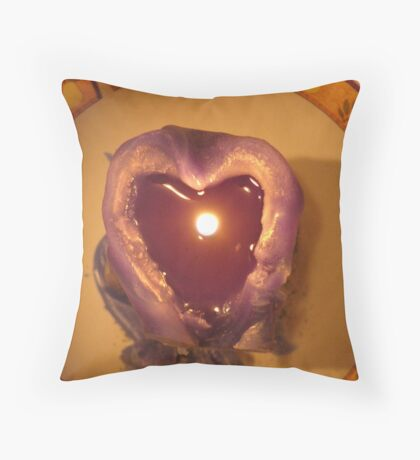 Only the Human Heart Can Enlighten the Earth for All Throw Pillow