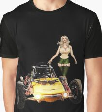 Buggy with hot Girl Graphic T-Shirt