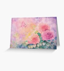 Roses In Softest Mist Greeting Card