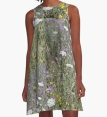 Mackinac Island Wildflowers A-Line Dress