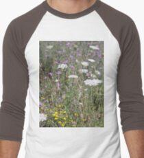 Mackinac Island Wildflowers Men's Baseball ¾ T-Shirt