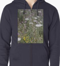 Mackinac Island Wildflowers Zipped Hoodie