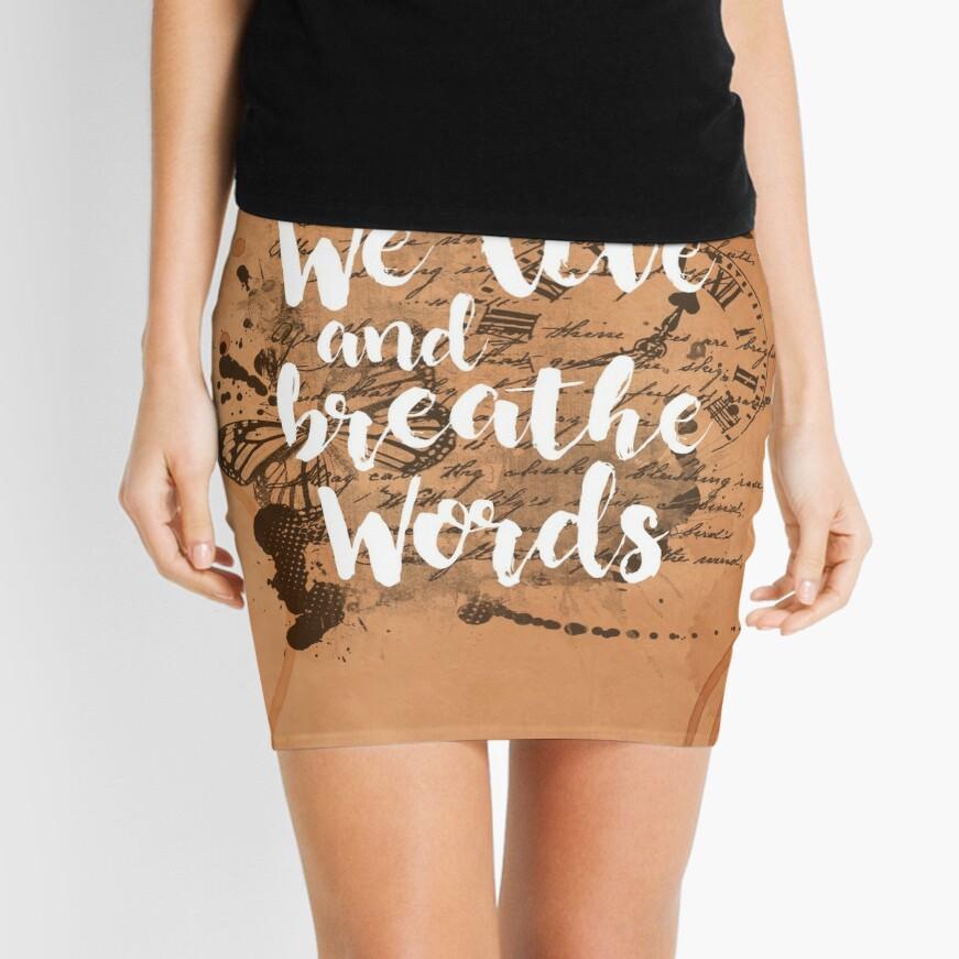 We live and breathe words Minifalda