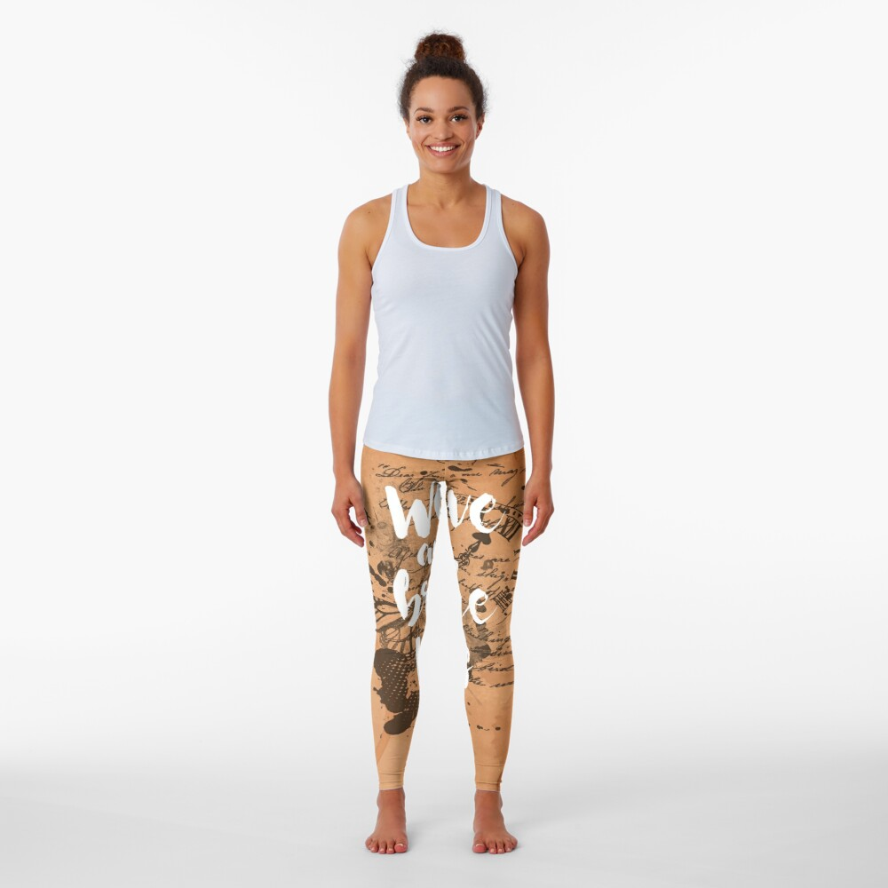 We live and breathe words Leggings