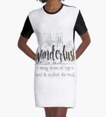 Wanderlust Graphic T-Shirt Dress