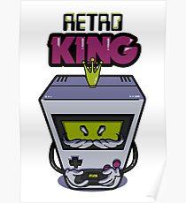 Retro King | Retro gamer console Poster