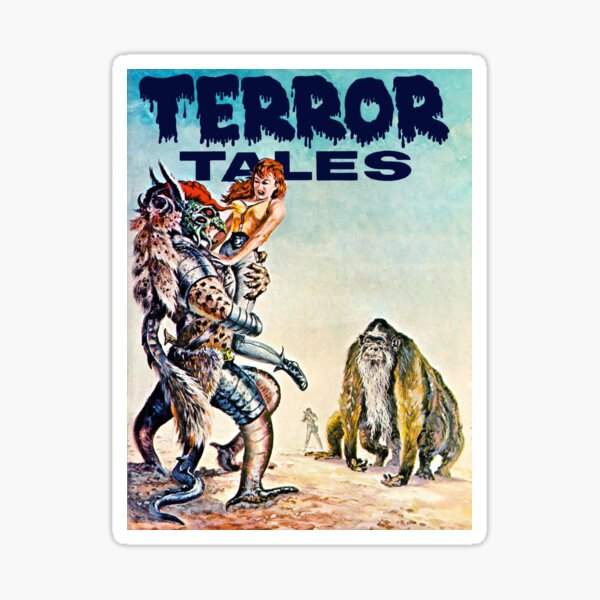Terror Tales - Textless Eerie Publications Cover Art 1 Sticker