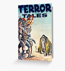 Terror Tales - Textless Eerie Publications Cover Art 1 Greeting Card