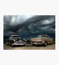 '54 Chevy Deluxe & '57 Bel Air Custom Photographic Print