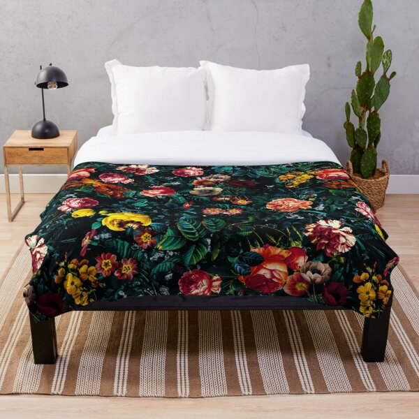 Night Garden XXX Throw Blanket