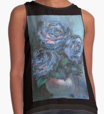 Abstract Roses on Silk Contrast Tank