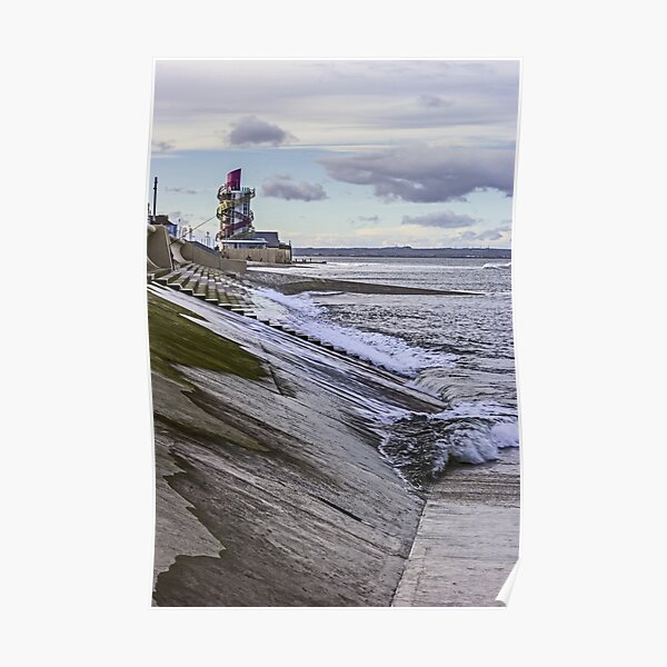 Redcar sea front Poster