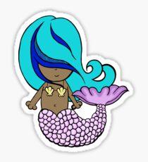 cute little shells mermaid Sticker