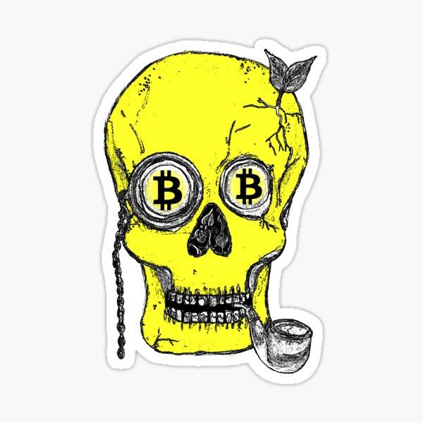 Baron Bitcoin in yellow.  Sticker