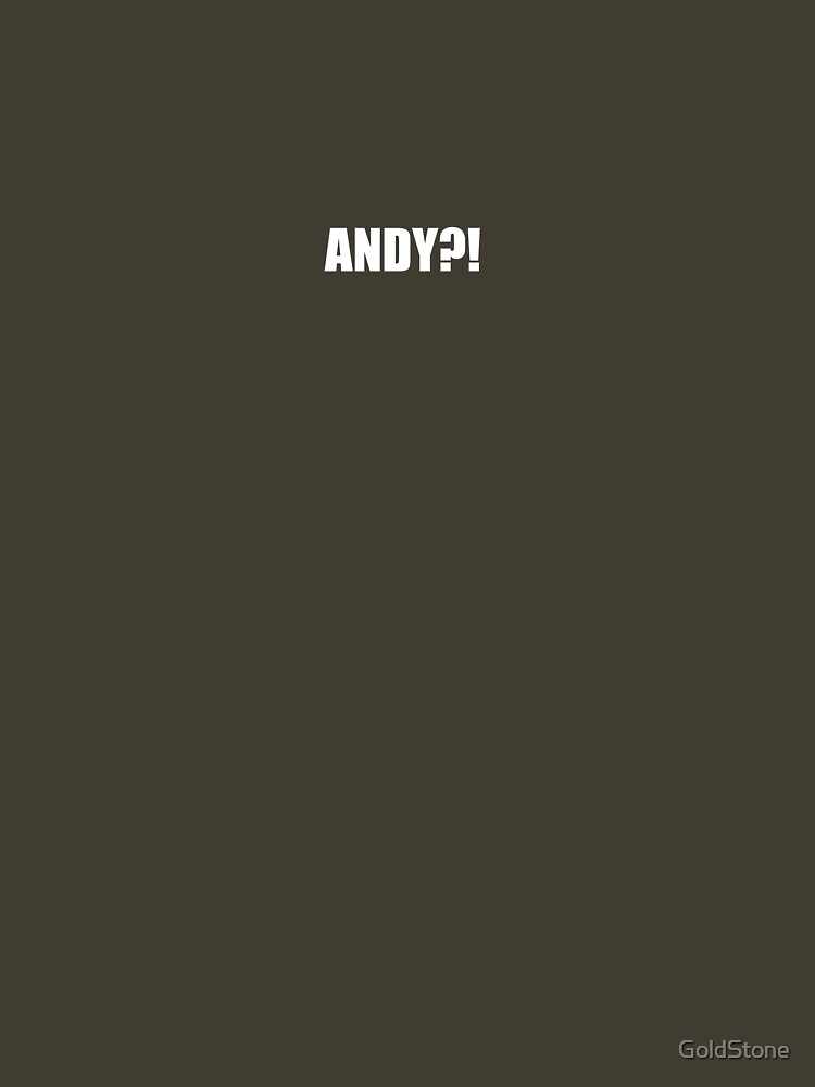 Pee-Wee Herman - ANDY?! - White Font by GoldStone