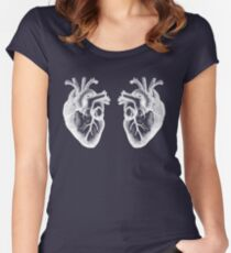 Two Hearts - Doctor Who - White Women's Fitted Scoop T-Shirt