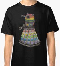 Rainbow watercolor dalek Classic T-Shirt