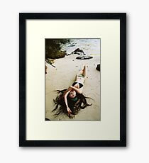 Kitty beached Framed Print