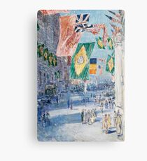 Avenue of the Allies: Brazil, Belgium by Childe Hassam Canvas Print