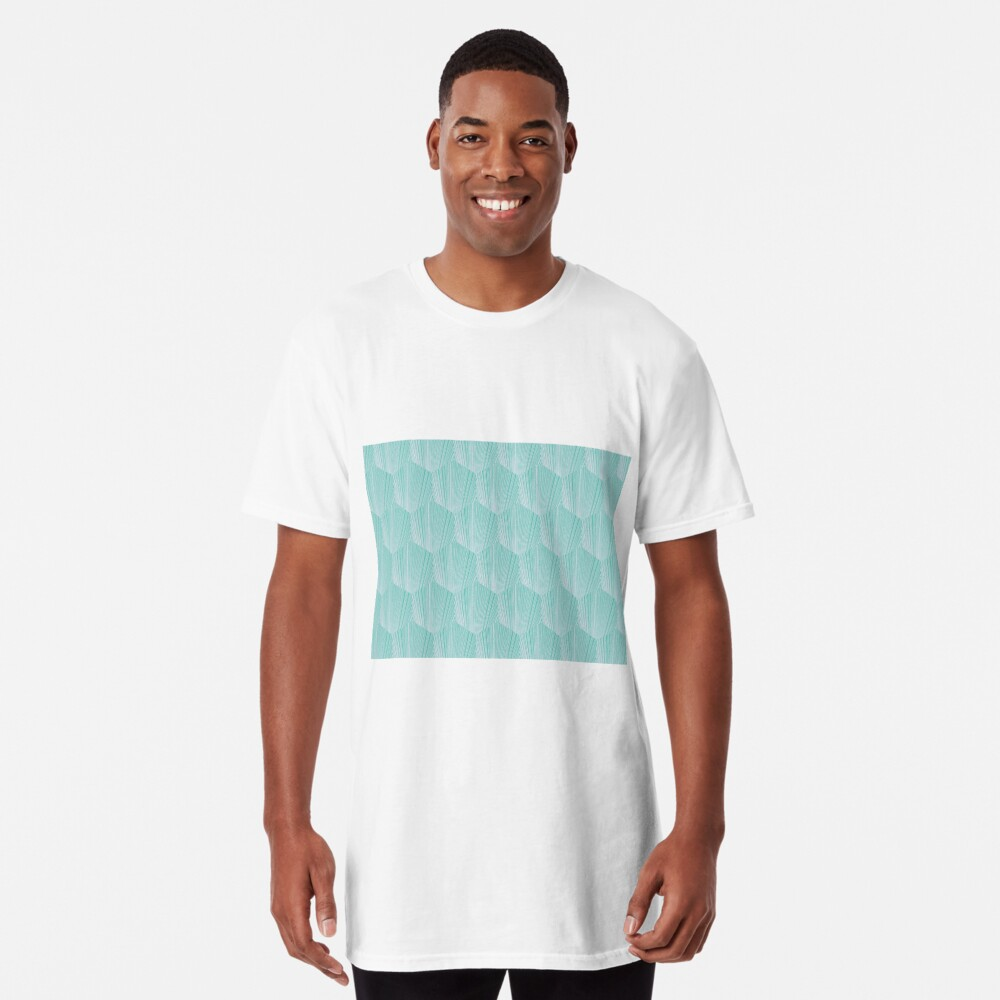Abstract octagone pattern  Camiseta larga