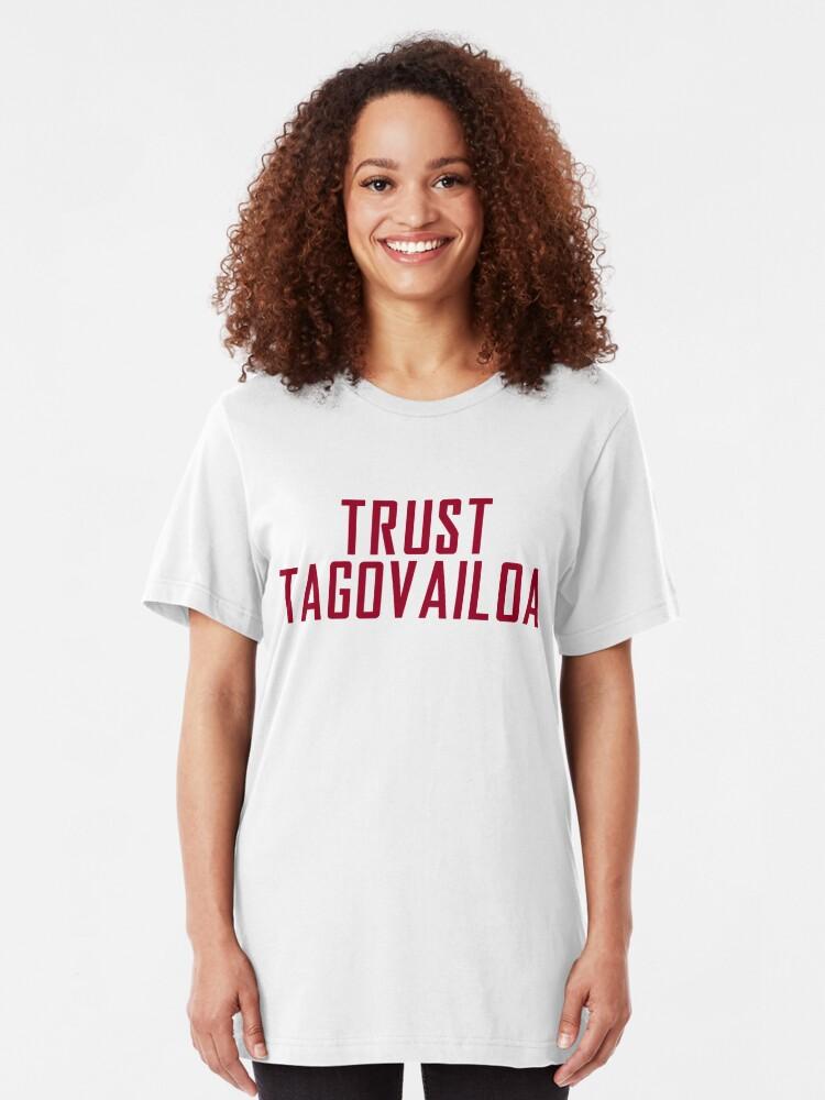 Alternate view of Trust Tagovailoa Bama Football Championship Slim Fit T-Shirt