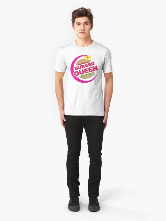 Alternate view of BURGER QUEEN Slim Fit T-Shirt