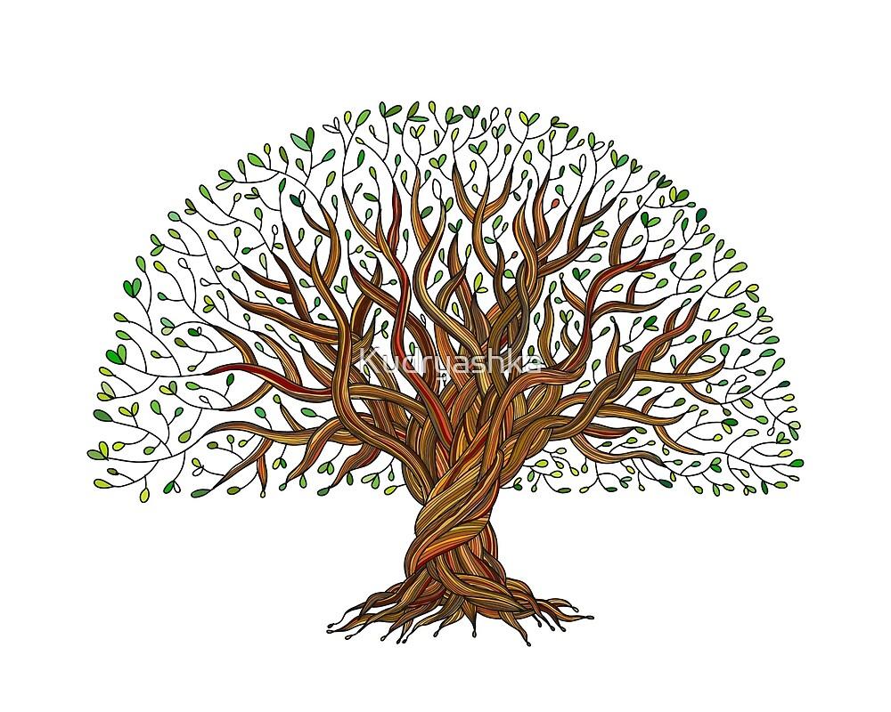 «Gran árbol Con Raíces» De Kudryashka