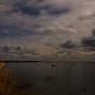 Braye Baye at Night - Alderney by NeilAlderney