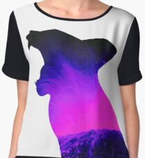Lava Volcano Cat Type 2 by Troy Young Chiffon Top