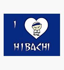 I Luv Hibachi Blue Photographic Print