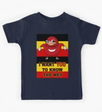 Knuckles wants you in the Ugandan Army Kids Tee