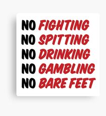 Caddyshack Rules Sign Canvas Print
