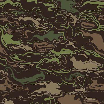 Camouflage Swirls  by Lisann