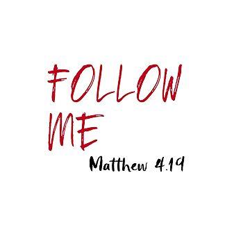 Red Letter Jesus Bible Verse: Follow Me  by motivateme
