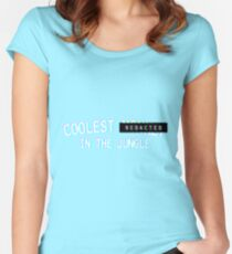 Coolest Monkey In The Jungle - Redacted Women's Fitted Scoop T-Shirt